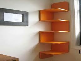Wood Corner Shelf Design by Unique Wall Bookshelves Snodster