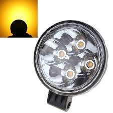 2 inch led spot light 3 x 2 inch round 12w 12v 24v yellow light spotlight led car