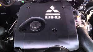 mitsubishi tritan di d 4cyl 2 5l diesel turbo f inj motor youtube