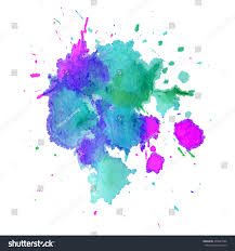 abstract watercolor stain splashes drops green stock vector