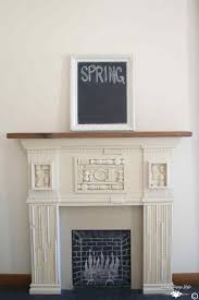 this is simple spring decorating ideas for your mantel country