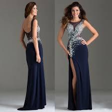 long backless navy dress u2013 woman best dresses