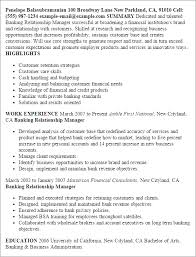 resume for accounts executive professional banking relationship manager templates to showcase