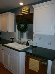 Kitchen With Tile Backsplash Diy Painting A Ceramic Tile Backsplash