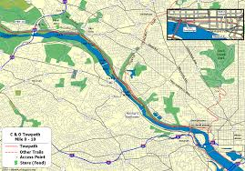 Washington Dc Hotel Map by The C U0026o Canal Bicycling Guide Mile 0 Thru 10