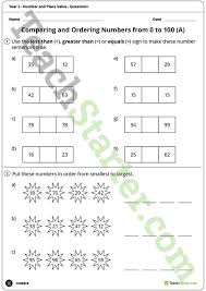 number worksheets number and place value year 2 teaching