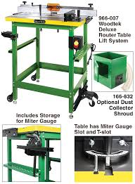 woodworker com woodtek u003csup u003e u003c sup u003e deluxe router lift table system