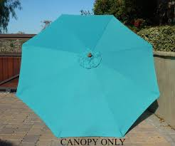 Sun Garden Easy Sun Parasol Replacement Canopy by Amazon Com 9ft Umbrella Replacement Canopy 8 Ribs In Turquoise