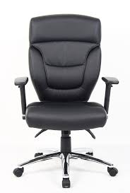 Leather Office Chair Front Black Leather Computer Operators Chair Free Delivery