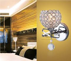 modern style bedside wall lamp bedroom stair lamp crystal wall
