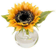 artificial sunflowers the bee faux sunflower in vase view in your room