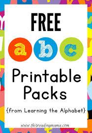 free abc printable packs learning the alphabet abc printable