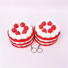 jeux de aux fraises cuisine gateaux 11 cm pvc visqueux fraise gâteau cuisine jouet doux simulation crème