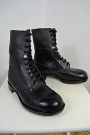 s army boots uk vintage 1980 s black army issue combat boots uk size 8