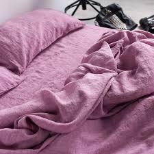 pure pink linen flat sheet