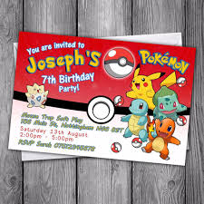 pokemon cards u0026 stationery for invitations ebay