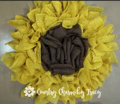 burlap sunflower wreath burlap sunflower wreath country charm by tracy
