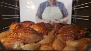 panning right to left on a thanksgiving dinner table stock footage