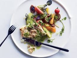 grilled halibut with herb pistou and walnut butter recipe danny