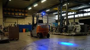 blue warning lights on forklifts comatra camera monitor systems
