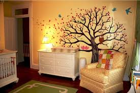 newborn baby room decorating ideas varnished wood cabinet storage