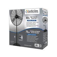 30 Oscillating Pedestal Fan Czhvp30 30 Inch High Velocity Pedestal Fan Black Comfort Zone