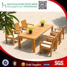 Teakwood Patio Furniture Luxury Burma Teak Wood Patio Table Set 6 Seater Dining Table View