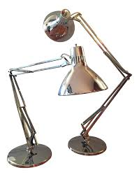 vintage luxo articulated chrome desk lamps a pair chairish