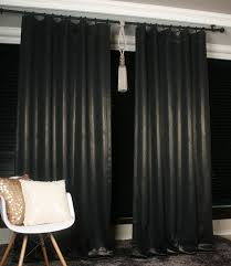 Thick Black Curtains Handmade Black Blackout Curtain Gold Glitter Accents Decorative
