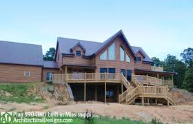plan 59041nd log home elegance architectural house plans
