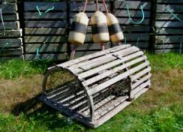 Lobster Trap Coffee Table by Downeast Nautical Salvage Lobster Traps