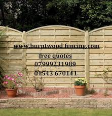 Types Of Garden Fences - burntwood fencing about