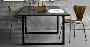 fritz hansen dining table series 7 around an essay table modern dining room london by