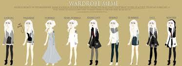 Art School Owl Meme - wardrobe meme rowan sawyer by tbdoll on deviantart