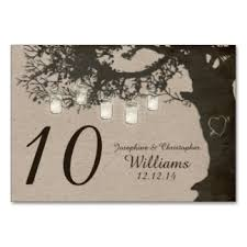 string lights vintage number table cards place cards zazzle
