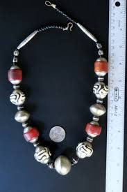large silver beads necklace images African necklace of large tribal jewelry old beads JPG
