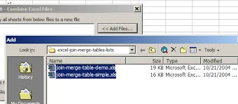 combine append tables sheets files to merge a master list