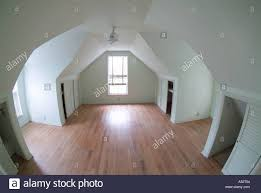 empty attic room of old house upstairs stock photo royalty free