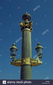 ornamental lighting stand with ls at place de la concorde