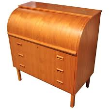 teak roll top desk danish modern teak roll top desk writing table teak and danish
