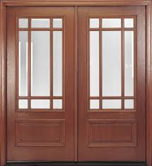 Clear Glass Entry Doors by Delta True Divided Lite Mahogany Door Features True Divided Lites