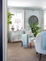 blue living room curtains christmas lights decoration
