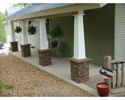 wood front porch pillars