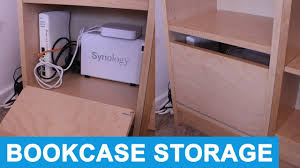 ikea shelf hack ikea shelf hack hiding network equipment in a bookcase youtube
