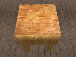 Kitchen Cutting Block Table by Second Life Marketplace Re Butcher Block Table One Prim