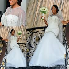 african mermaid wedding dresse with wrap jacket sweetheart beads