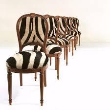Zebra Dining Chairs Maison Jansen Louis Xvi Dining Chairs In Zebra Hide Set Of 6