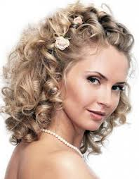 bridal hairstyle with curls medium length bridal hairstyles for