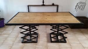 Table Acier Bois Industriel by Table Salle A Manger Bois Vieilli Grande Table De Style