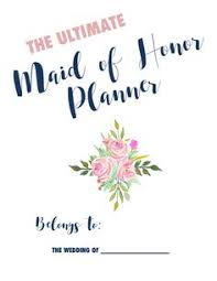 of honor planner book ultimate of honor wedding planner instant